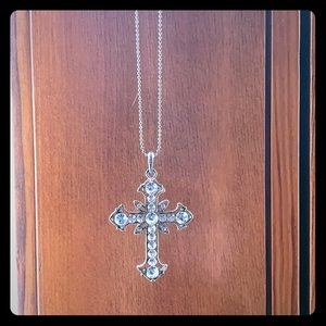 Premier jewelry crystal cross necklace